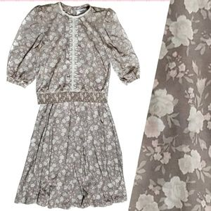 1970s Frejani Shirt Skirt Set Peasant Vintage Boho